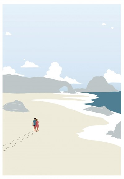 Nature Beach Couple Poster