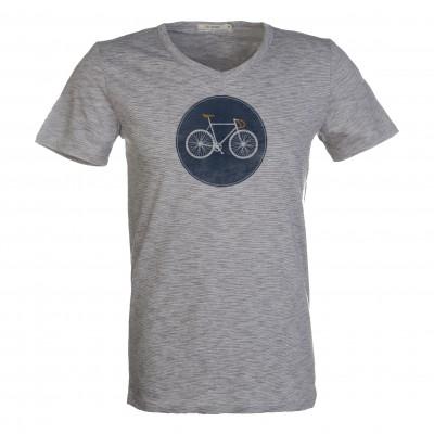 Bike Shield Peak Dark Grey Stripes