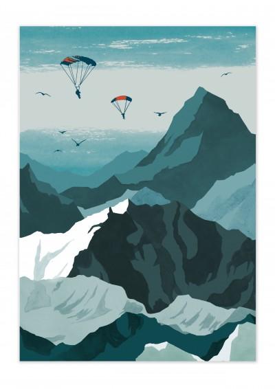 Nature Sky Diver Poster