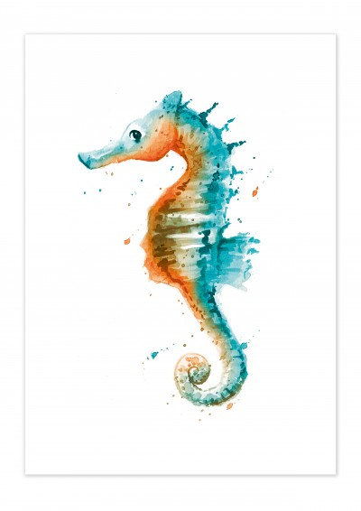 Animal Seahorse Poster