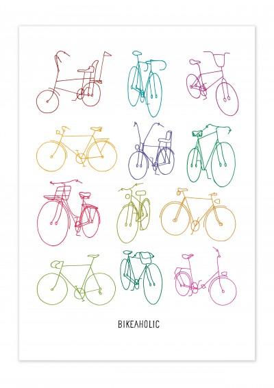 Bike Retro Bikes Poster